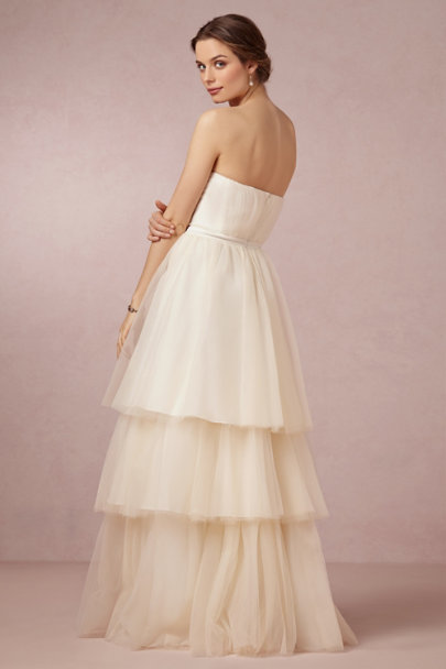 Badgley Mischka cream Faye Gown | BHLDN