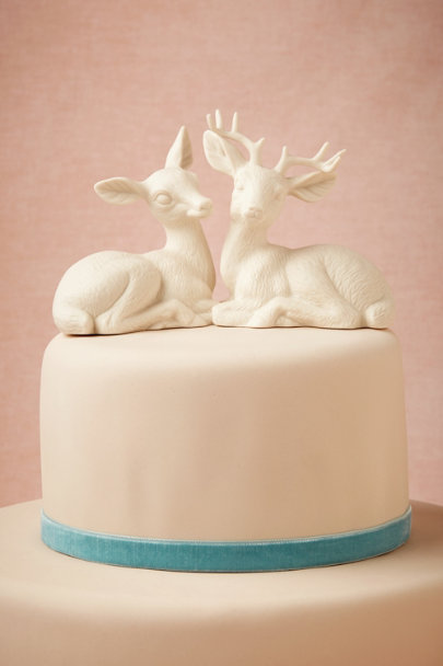 white Oh Deer Cake Topper | BHLDN
