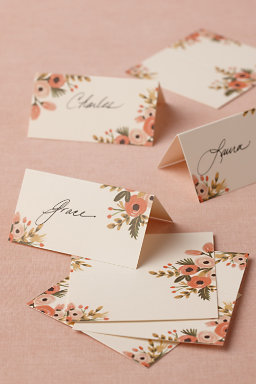 Hothouse Foliage Place Cards (8)