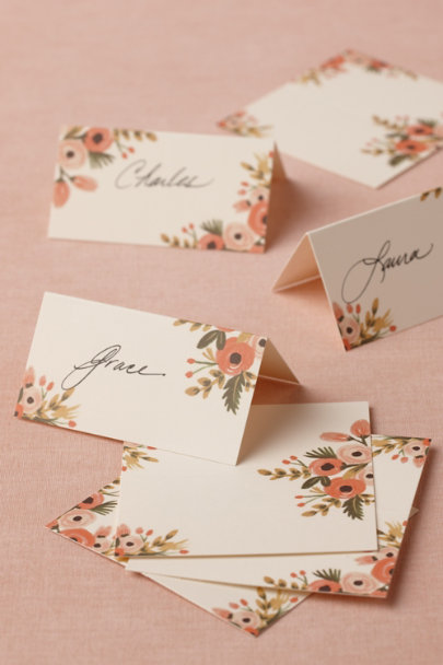 Rifle Paper Co. Rose Hothouse Foliage Place Cards (8) | BHLDN