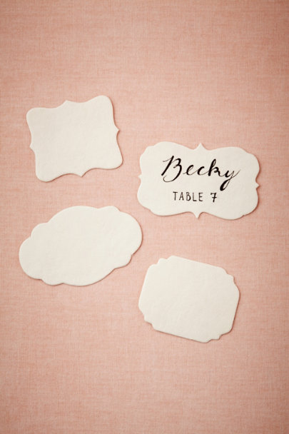 cream Silhouette Place Cards | BHLDN