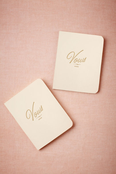 grey/pink Letterpress Vow Journals | BHLDN