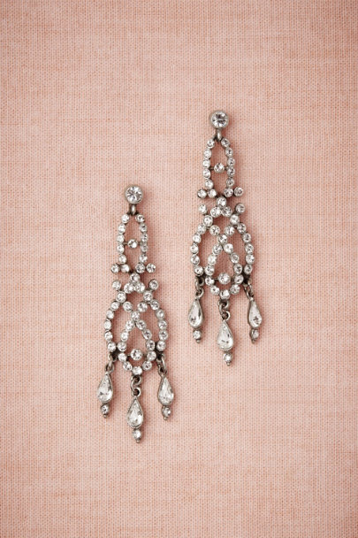 Ben-Amun Silver Silvery Plaits Earrings | BHLDN