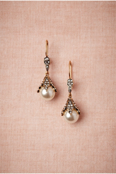 Azaara Pearl Snow Bud Earrings | BHLDN