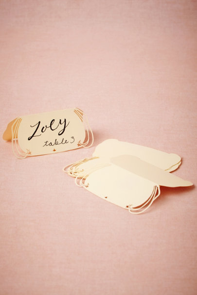 ivory Lacy Lasercut Place Cards (10) | BHLDN