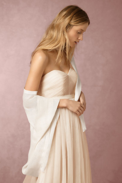 Love Quotes Souffle Carlotta Wrap | BHLDN