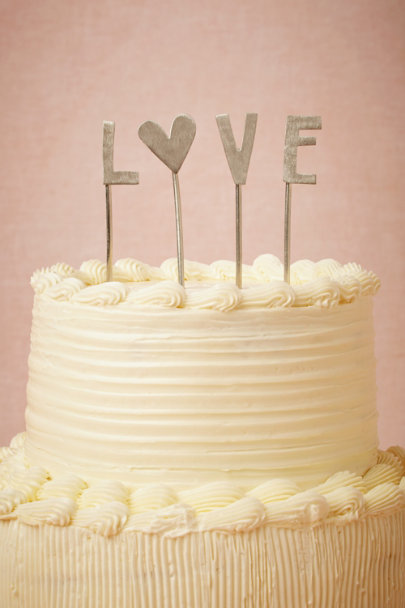 L O V E Cake Topper In Sale Bhldn
