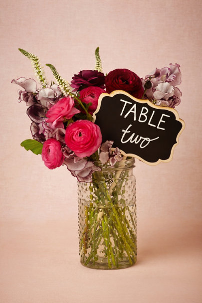 natural/black Blank Chalkboard Stake | BHLDN