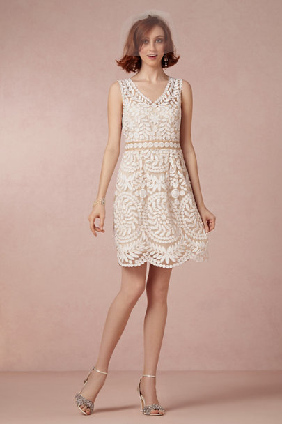 Debra Moreland Ivory Short & Sweet Blusher | BHLDN