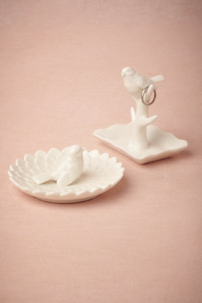 ivory Warbler Trinket Dishes | BHLDN