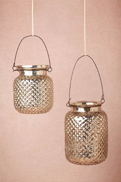 silver Fenton Mercury Lanterns | BHLDN