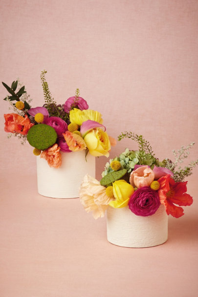 white Hewn Palm Pots | BHLDN