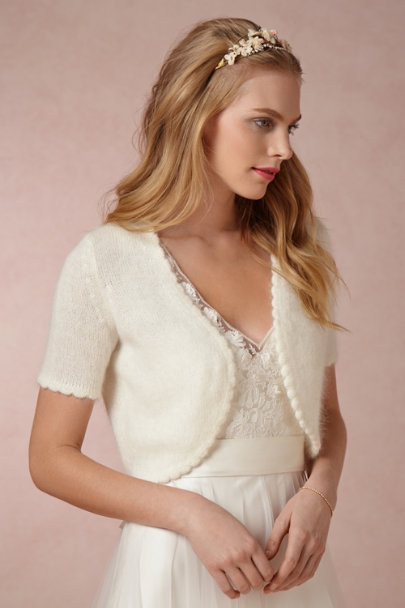 Ivory Plush Angora Topper | BHLDN