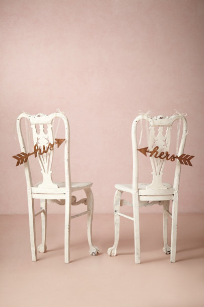 natural Sightline Chair Signs | BHLDN