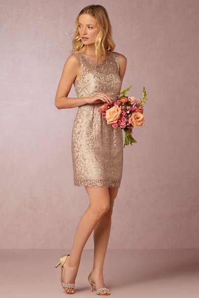 Jenny Yoo sandstone Harlow Dress | BHLDN