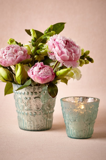 blue Painted Mercury Vessels | BHLDN