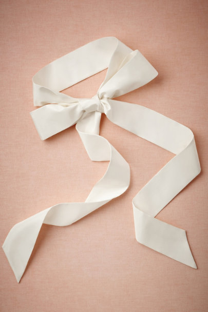 snow Simply Silk Sash | BHLDN