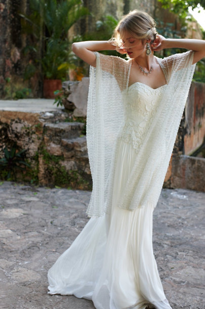 ivory Bohème Wrap | BHLDN