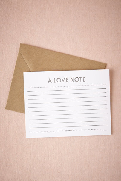 Sugar Paper ivory/black Love Note Card | BHLDN