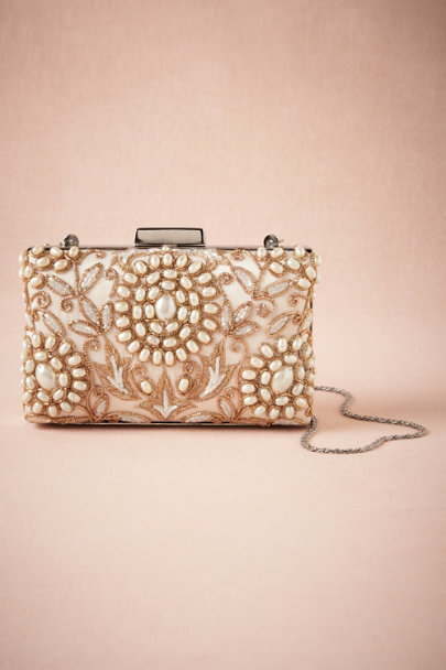 ivory Golden Pearl Clutch | BHLDN