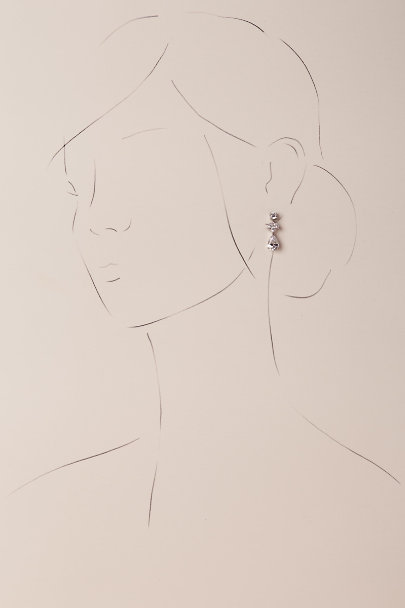 Kenneth Jay Lane Crystal Petite Crystal Drop Earrings | BHLDN