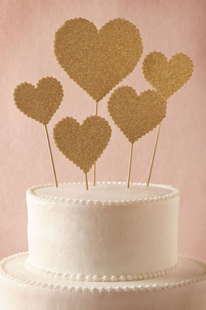 Wendy Addison gold Heartbeats Cake Topper (5) | BHLDN