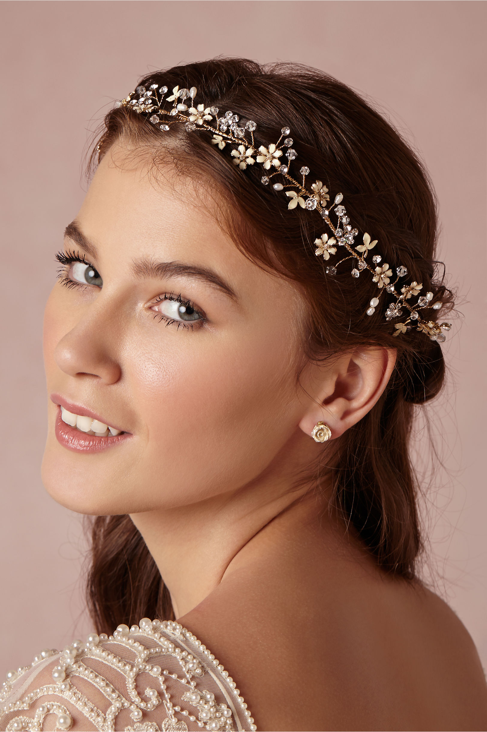 Br Bridal Headpieces Twigs And Honey - Twigs honey gold buttercup halo bhldn