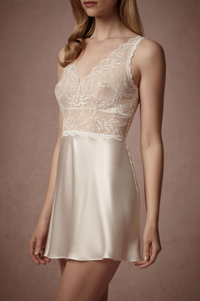 Light Ivory Adelaide Chemise | BHLDN