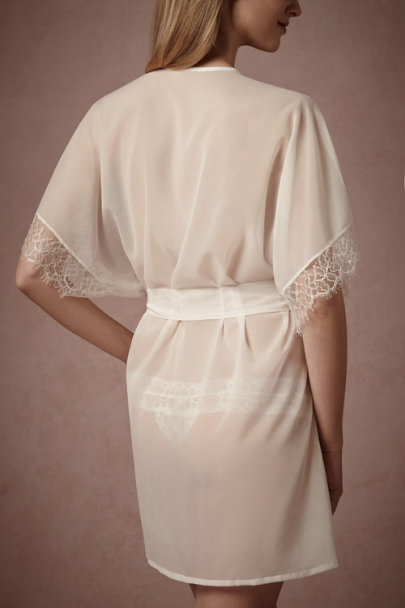ivory Dulce Lace Robe | BHLDN
