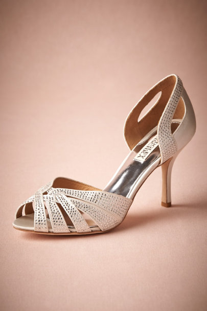Badgley Mischka White Lune D'Orsays | BHLDN
