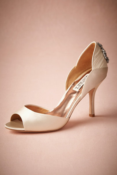 Badgley Mischka ivory Chandelier Peep-Toes  | BHLDN
