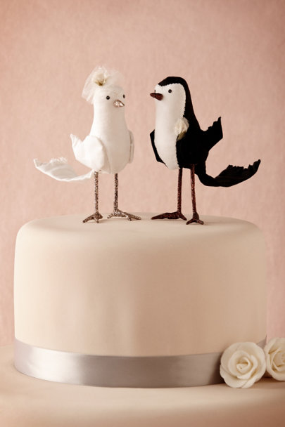 Ivory/Black Proper Pair Cake Topper | BHLDN