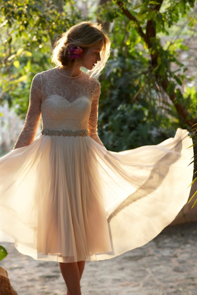 Catherine Deane cream Waterfall Dress | BHLDN