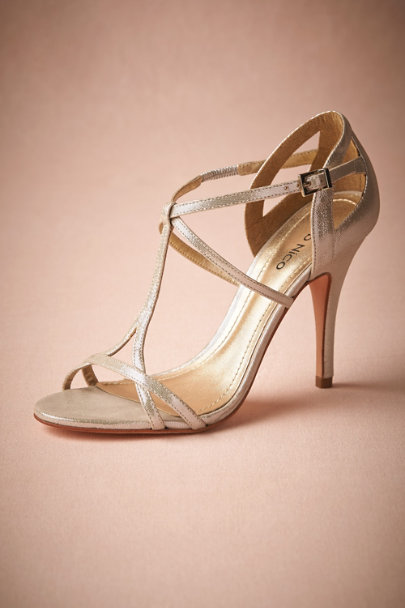 silver Addison Heels | BHLDN
