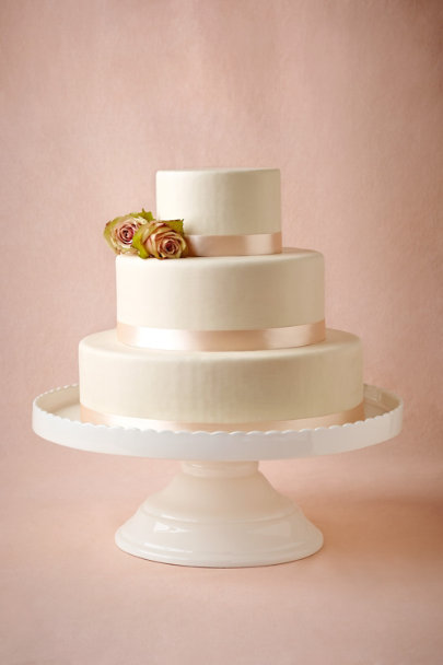 White Oversized Bridal Cake Stand | BHLDN