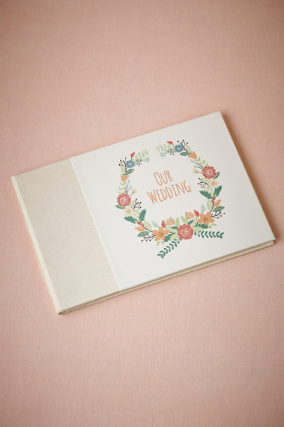 Multi Floral Wreath Guestbook | BHLDN