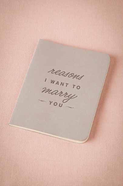 Reasons I Want to Marry You Journal