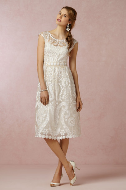 Yoana Baraschi ivory Hanna Dress | BHLDN