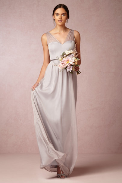 mist grey Josephine Dress | BHLDN