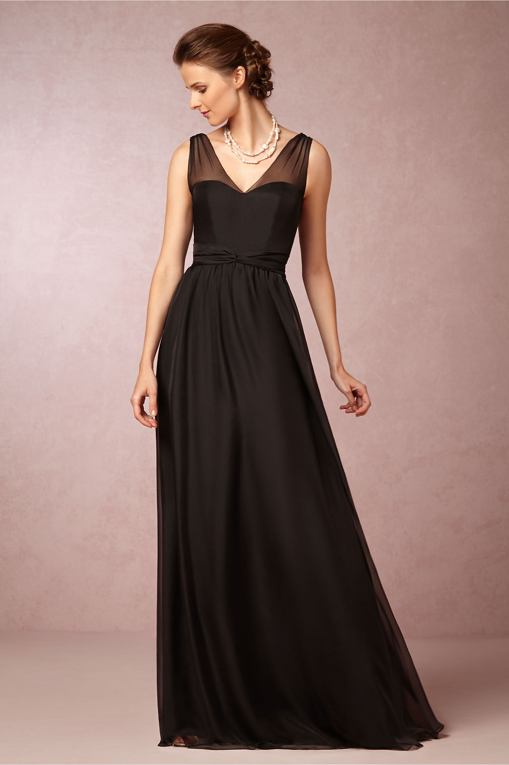 Black dress bridesmaid - Black Josephine Dress Bhldn