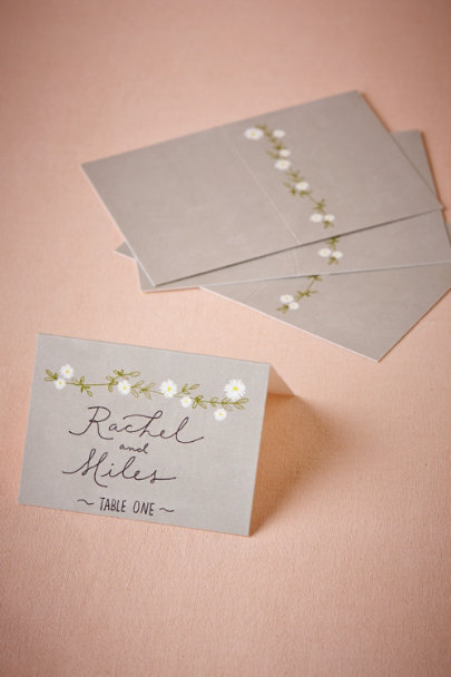 Grey Aster Tented Placecards (10) | BHLDN