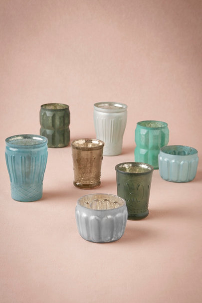 blue motif Nightfall Votives (8) | BHLDN