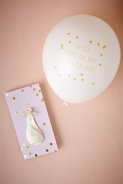 Lilac Pop-The-Question Flower Girl Card | BHLDN