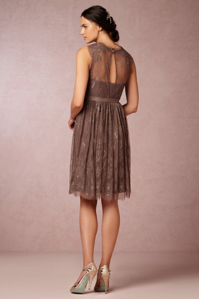 warm mocha Celia Dress | BHLDN