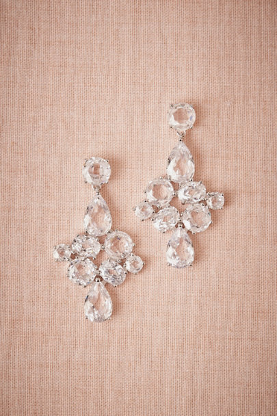 silver Gilded Waterdrop Earrings | BHLDN