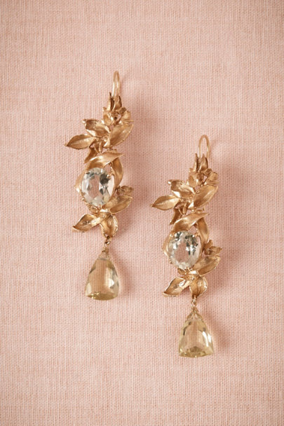 Cristina Zazo GOLD Pear Tree Earrings | BHLDN