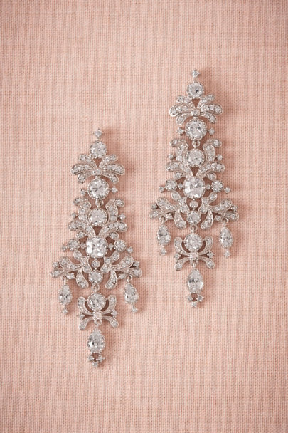 Kenneth Jay Lane Silver Gwyneth Earring | BHLDN