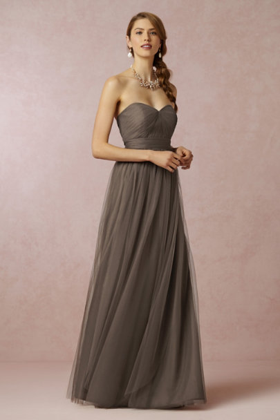 Jenny Yoo warm mocha Annabelle Dress | BHLDN