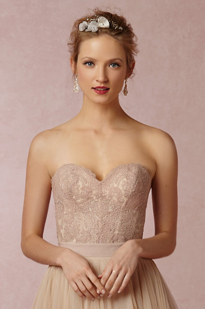 Cécile Boccara neutral motif Clustered Flower Halo | BHLDN