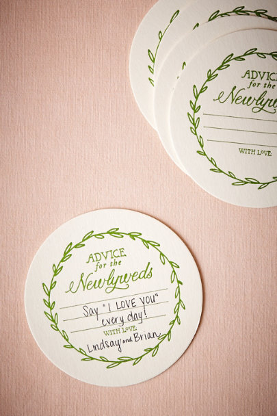 Green Vined Advice Coasters (20) | BHLDN